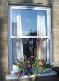 Wood replacement sash window
